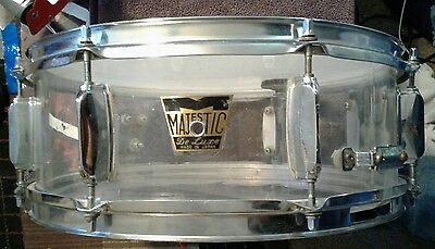 """Acrylic Majestic Snare Late 1960's/Early 1970's 14"""" x 5"""""""