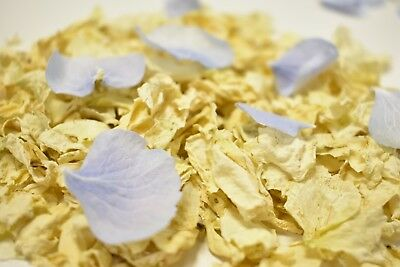 Slowfall Natural Real Dried Petal Biodegradable Wedding Confetti Pink & Ivory