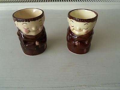 "2 WEISS ""FRIAR CHUCKY"" EGG CUPS - Kitchenalia"