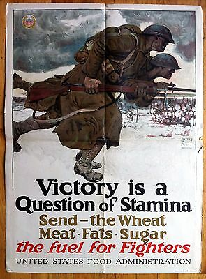 Original World War ONE, USA, Victory Is A Question Of Stamina, The Fuel For