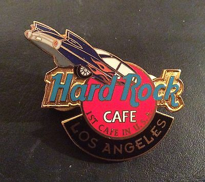 HARD ROCK CAFE PIN BADGE CADILLAC LOS ANGELES 1st CAFE IN USA