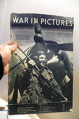 antique WAR IN PICTURES magazine ww2 1941 england canada allies RAF  military