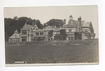 Real Photo PC Unknown County Location Mansion House Stately Home Sandgate Kent ?