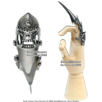 Fantasy Iron Reaver Skull Claw Knife Finger Armor with Blade