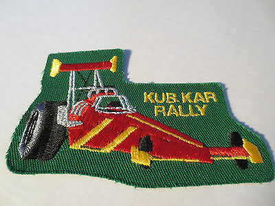 Boy Cub Scout Kub Kar Rally Merrit Badge Embroidered Patch Canada