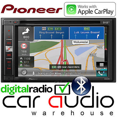 "Pioneer 6.1"" Camper Double Din Navigation DAB DVD USB Bluetooth CarPlay Player"