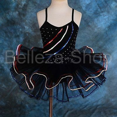 $0.99 Crazy Sale Rhinestone Black Ballet + Arm Mitts Pageant Fairy Dress 2-3 034