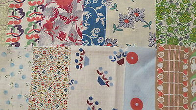 lot of 20 Vintage Feedsack Variety Squares Quilt blocks for top crafts fabric