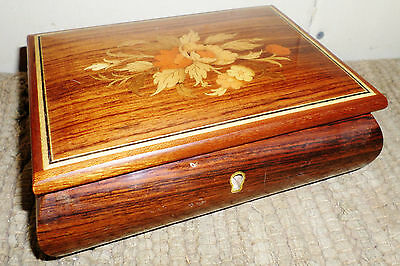 Nice Sorrento Italy Inlaid Reuge Wood Swiss Music Box Plays Its Just Impossible!