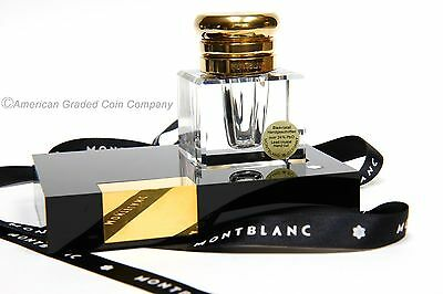 Montblanc Crystal Masterpiece Fountain Pen Inkwell  W. Germany-NEW MINT!!