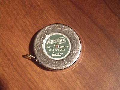 Vintage Lufkin Architects Thinline Tape Measure W605A  Free Shipping