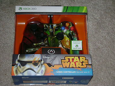 Star Wars Boba Fett Wired Controller...xbox 360...***sealed***brand New***!!!!!!