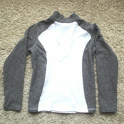 The North Face Gray/white 1/4 Zip Girls Fleece Jacket Sz Medium (10/12)