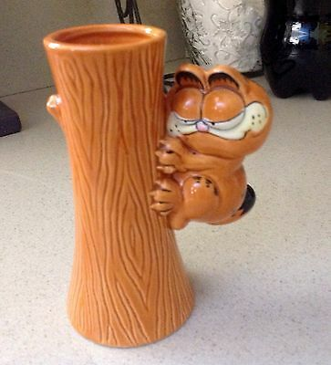 Vintage Garfield Vase VERY RARE and Hard To Find