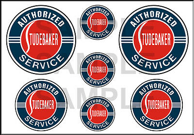 1 1/2 3/4 Inch Studebaker Service Model Diorama Building Sign Decals Stickers