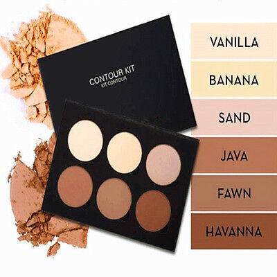 6 Colors Beauty Powder Contour Face Bronzer & Highlighter Palette Cosmetic New