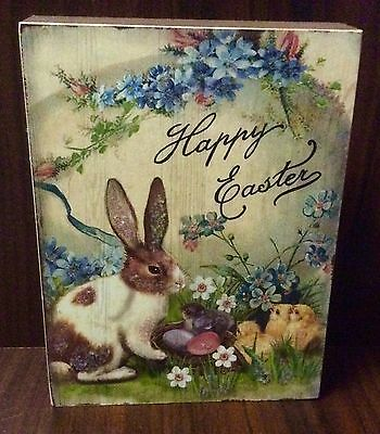 New Happy Easter Bunny Chick Hanging Wall Decor Easter Spring Decor