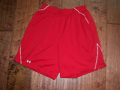 Under Armour Lined Shorts- Size- Medium- Red-