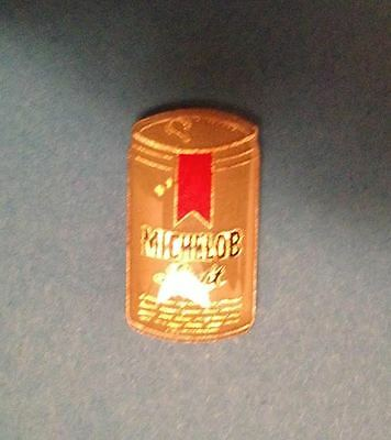 Rare Vintage 1980's Michelob Light  Beer Can Breweriana Jacket Hat Lapel Pin 009