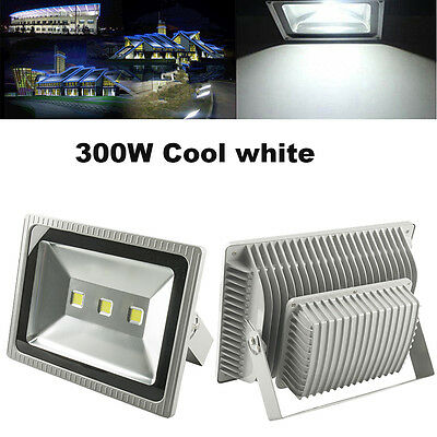 300W LED Floodlights IP65 Security Outdoor Garden Flood Light Lamp Cool White