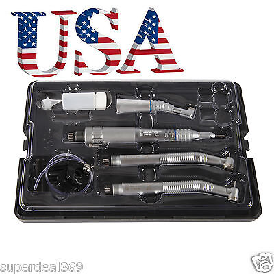 Dental High Speed/ Low Speed Handpiece Kit 4-Hole fit NSK Turbine USA New Pana