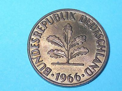 1966 J 2 Pfennig Germany Unc - Collectable World Coin
