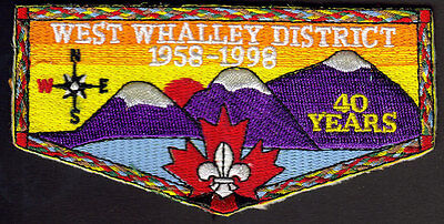 Boy Scouts Canada 1958-1998 West Whalley Surrey B.c.40 Years Embroidered Patch
