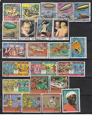 Comoros _ Unchecked used stamps collection (2)