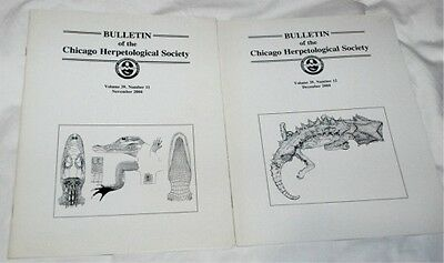 6 Issues of Bulletin of the Chicago Herpetological Society Vol.39-2004 REPTILES+