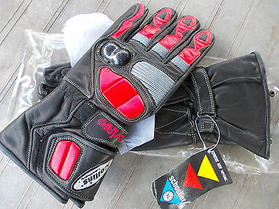 Collins leather Gloves. RED