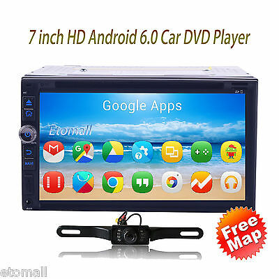 Car DVD WIFI GPS Navigation System in dash player Android 6.0 Double Din 7inch