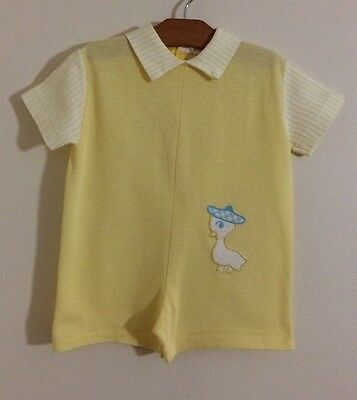 Vintage 1960s SEARS Boys EASTER DUCK Jumper 3T (Fits Like 18-24 Months) COTTON