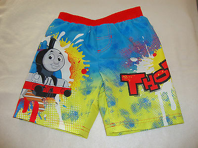 Thomas The Train   Swimshorts Nwt  Graphics Front & Back
