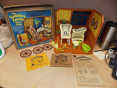 Vintage 1970s SUNSHINE FAMILY Baby Room Playset By Mattel nice CONDITION