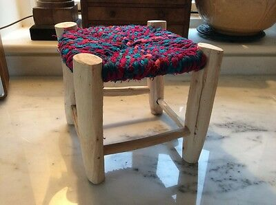 Childrens fabric and wooden stool - new and unused