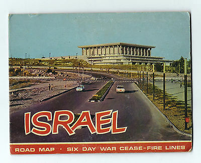 Judaica Israel Six Day War Cease - Fire Lines Map