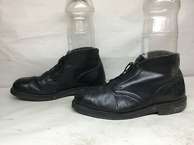 Vtg Mens Biltrite Steel Toe Eh Chukka Work Leather Black Boots Size 9 R