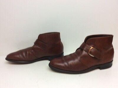 Vtg Mens Regal Casual Leather Brown Boots Size 9 D/b