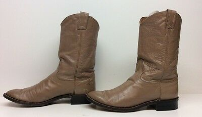 Mens Nocona Western Roper Leather Sand Boots Size 8 C
