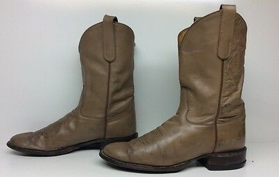 Mens Tony Lama Cowboy Leather Brown Boots Size 10 B