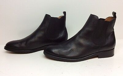 Mens Rooster Casual Leather Black Boots Size 42