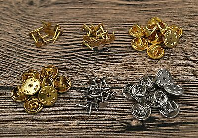 Set Nail Tie Tac Tack Lapel Pin Back Clutch Scatter Butterfly Clasp Squeeze Clip