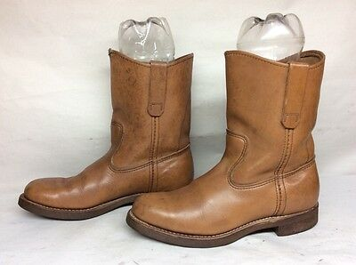 #12 Vtg Mens Red Wing Work Leather Brown Boots Size 8 D