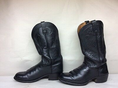 Mens Unbranded Cowboy Leather Black Boots Size --