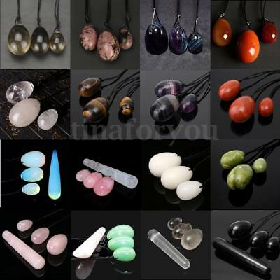 4/3/1Pcs Drilled Yoni Jade Eggs For Kegel Exercise Pelvic Muscle Tightening Ball