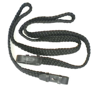 Mounted Games Black Plaited Nylon Reins