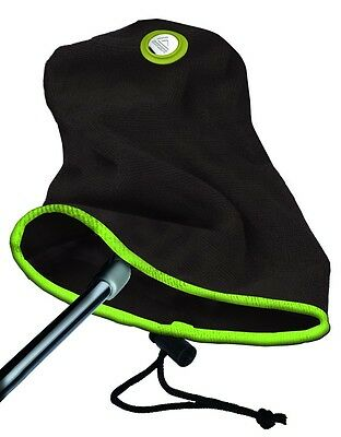 EZE 2 in 1 GOLF PUTTER TOWEL / PUTTER COVER BLACK/LIME