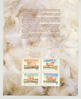 1989 Sheep In Australia Set Of 4 Stamp Pack, Unopened, Mint Condition
