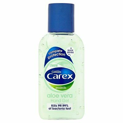 Carex Aloe Vera Antibacterial Hand Gel 50ml Travel Size - Pack of 3,6 and 12