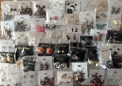 Job Lot (50 Pairs)New Jewellery Earrings Resale/Gifts/Fetes/Car Boots Etc